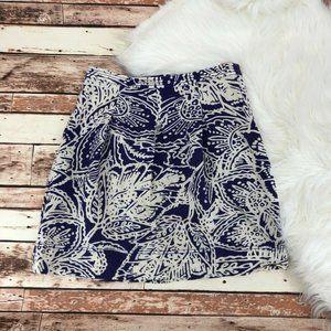 Ann Taylor Loft A Line Floral Print Skirt Size 4